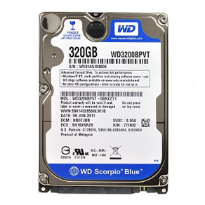 Ổ Cứng Laptop WD 320GB Blue 5400rpm