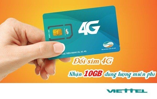 Hướng dẫn nhận 10 GB data tốc độ cao khi đăng ký 4G Viettel