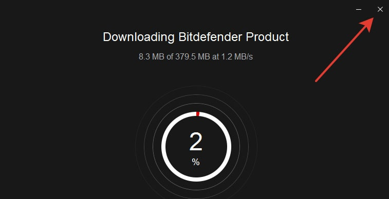 You must first install bitdefender agent to be able to install Bitdefender Security