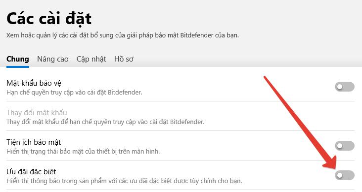 Hướng dẫn tắt quảng cáo khó chịu của Bitdefender